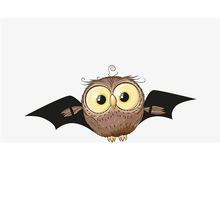 Coklat Cute Bat 3D <span class=keywords><strong>Stiker</strong></span> <span class=keywords><strong>Halloween</strong></span>