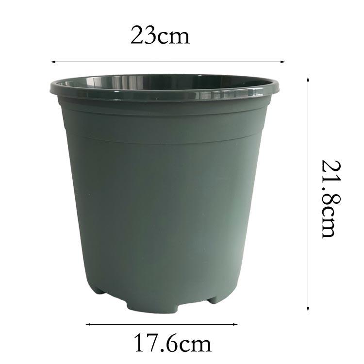 PP Nhà Máy Bán Buôn Giá Màu Xanh Lá Cây Ngoài Trời Vườn Nhựa Chậu Cây