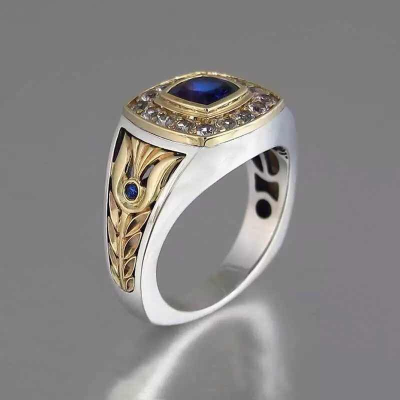 product-BEYALY-Hot Sell Two-Color Zircon Ring, Fashion Jewelry Men And Women Ring Ebay New Wholesale