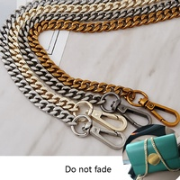 Yiwu manufacturers direct production of twisted metal flat chain accessories metal chain bag strap 9mm wide bag belt women