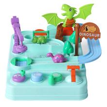 Детские развивающие вагончики, игрушки, экологически чистые детские машины, приключения, лабиринт, игрушка, трек, автомобиль, настольные иг...(Китай)