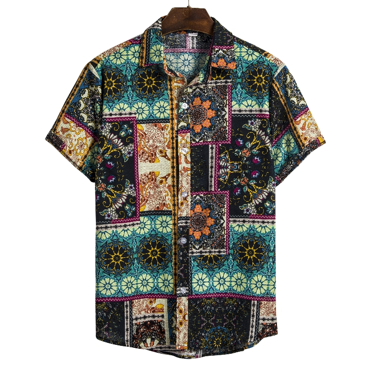 Hot Sale Summer Latest Design Eco Friendly Short Sleeve Printed Casual Hawaii Mens <strong>Shirt</strong>