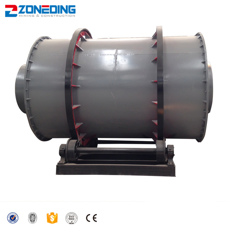 China factory 3-pass cylinders electric indirect heat rotary drum dryer with price