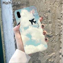 MaiYaCa ravelling карта мира Путешествия Смарт-Чехол черный корпус чехол для телефона для Apple iphone 11 pro 8 7 66S Plus X XS MAX 5S SE XR(Китай)