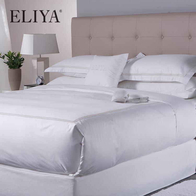 Donatılmış kraliçe kral boyutu % 100% pamuk beyaz yatak yorgan yatak örtüsü Set tek otel çarşaf