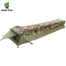 Geertop 한 사람 터치 에어 캔버스 가방 캠핑 swag bivy <span class=keywords><strong>텐트</strong></span>