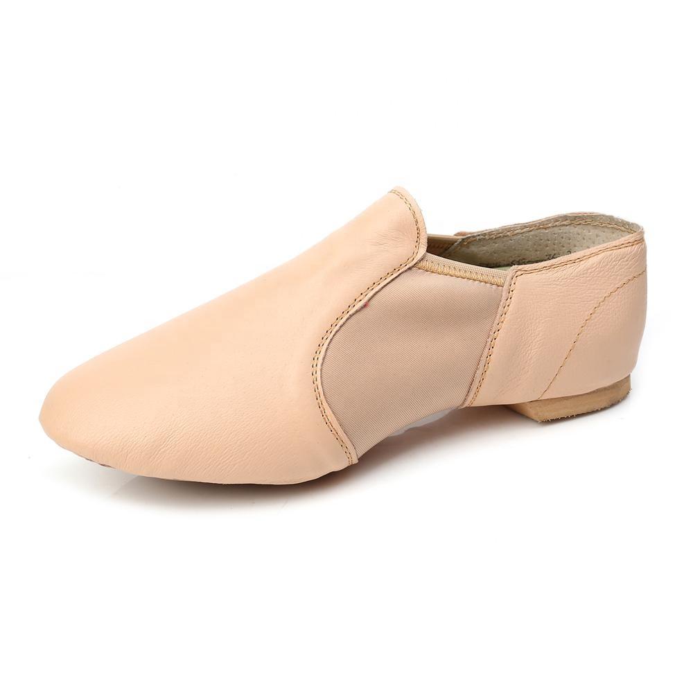 Respirável Prática Sapatos Soft-Sola sapatos de Jazz Sapatos de Dança De Salão De Couro Unissex para Crianças Das Mulheres Dos Homens