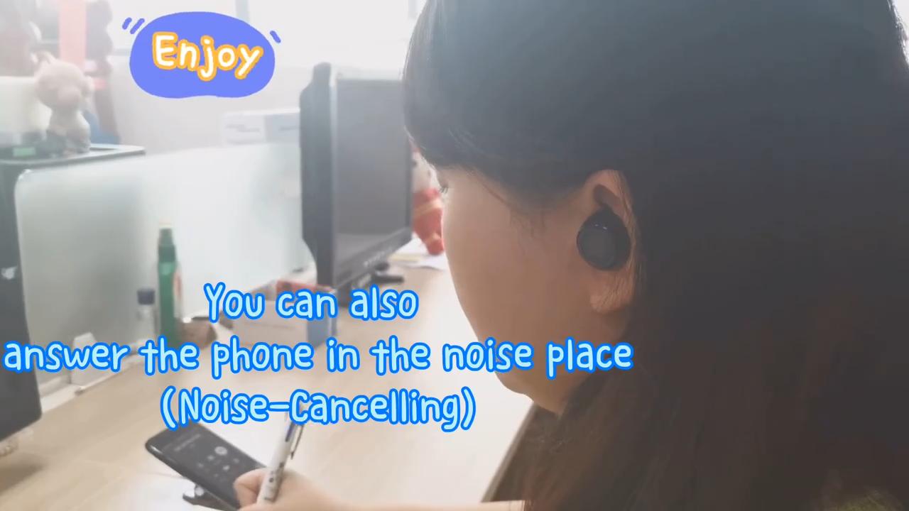 Free Sample Q66S Fast Shipping Noise Cancel  Led Digital Light Stereo Mini Waterproof Factory Price Earphone