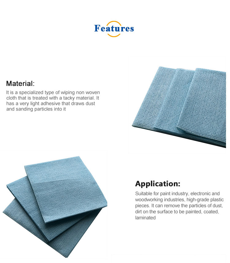 Auto Cleaning Non Woven Tack Cloth