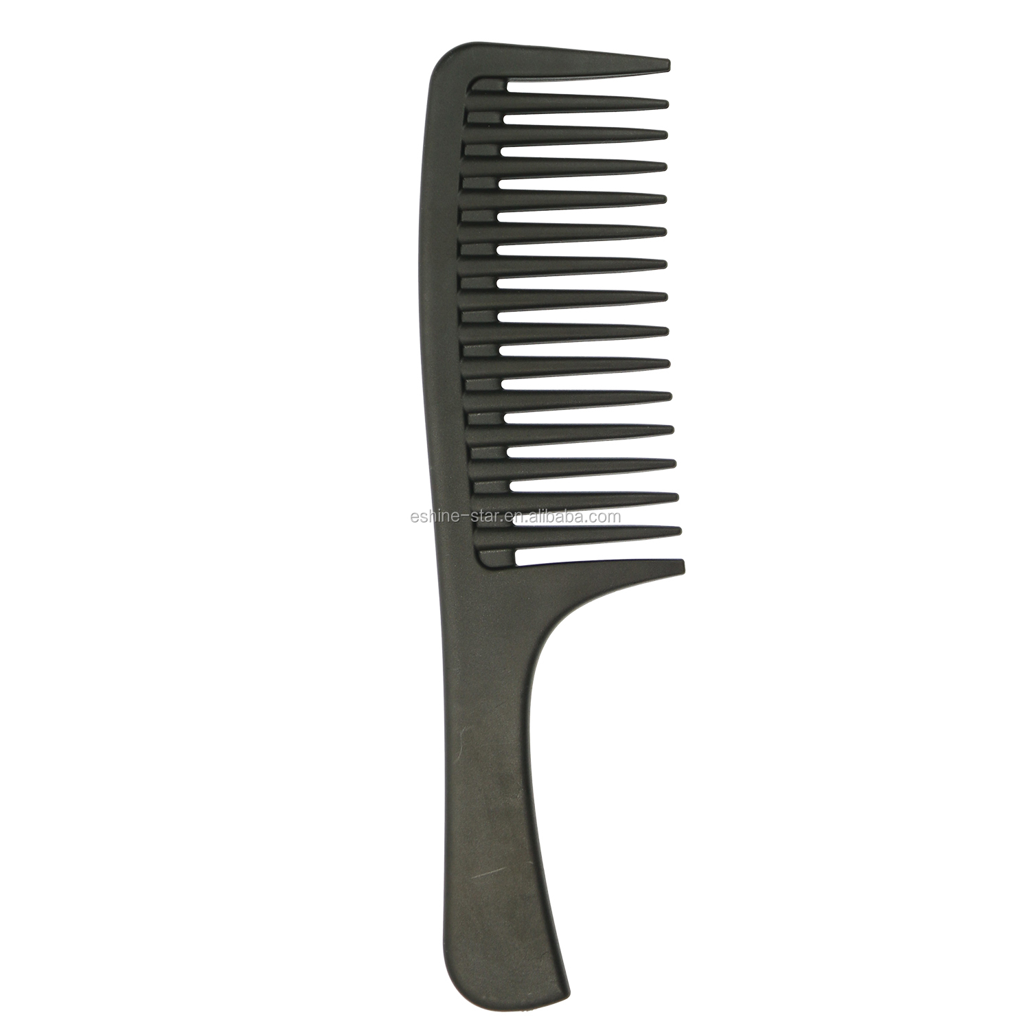 Private logo hot selling hair salon tool professional wide tooth detangling carbon hair comb