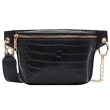 Повседневная женская сумка, кожаная дорожная нагрудная сумка для женщин, поясная сумка, модная поясная сумка для отдыха, поясная сумка чере...(Китай)