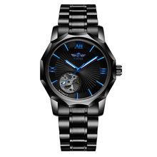 Победитель Топ бренд синий 3D дизайн прозрачный Скелетон полые мужские часы Роскошные автоматические Модные механические наручные часы(Китай)