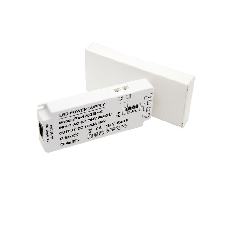 Professional Manufacturer 12V 3A Light power supply transformer for cabinet lighting flexible strip lighting box