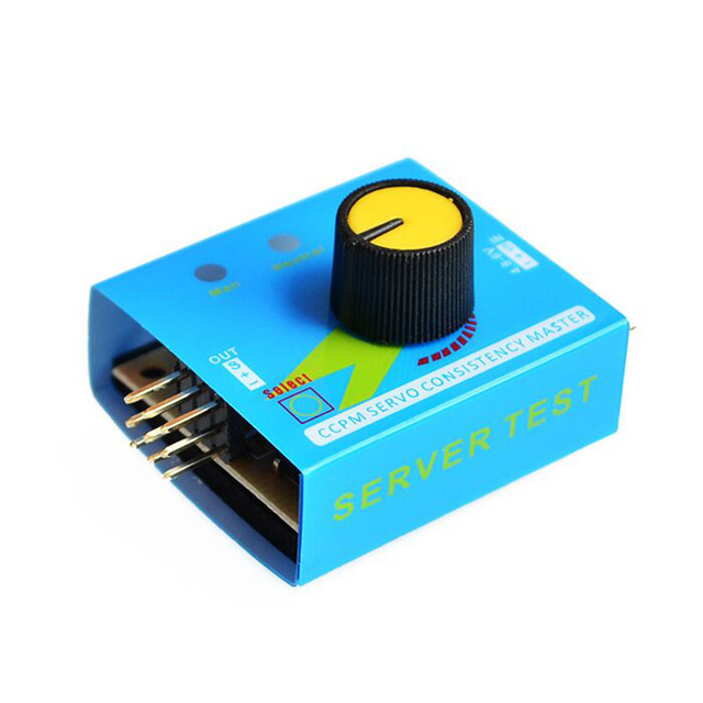 Steering Gear Tester CCPM 3-Modes ESC Servo Motor for RC Helicopters AdjustmGA