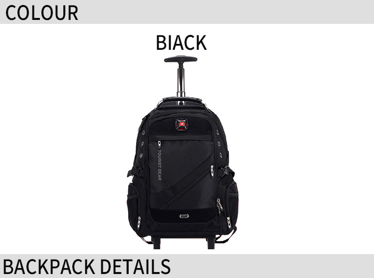 trolley backpack wholesale new design china manufacturer nylon fashion wheeled trolley backpack bags with good quality