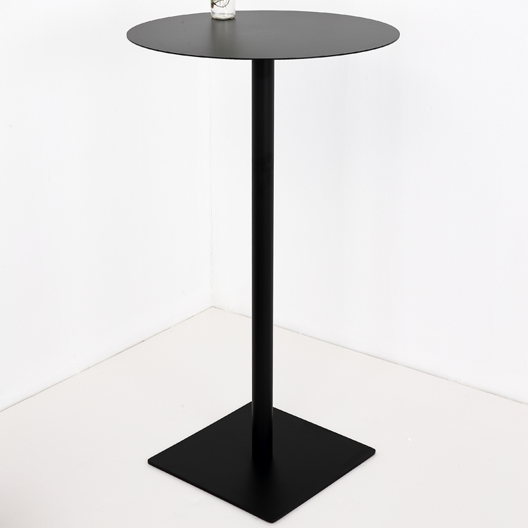 Nordic wrought iron round simple outdoor leisure high top tables <strong>bar</strong>
