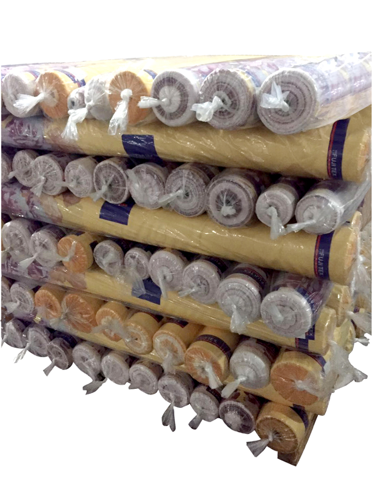 Organic double gauze muslin fabric in good quality plain and with pattern for baby blanket