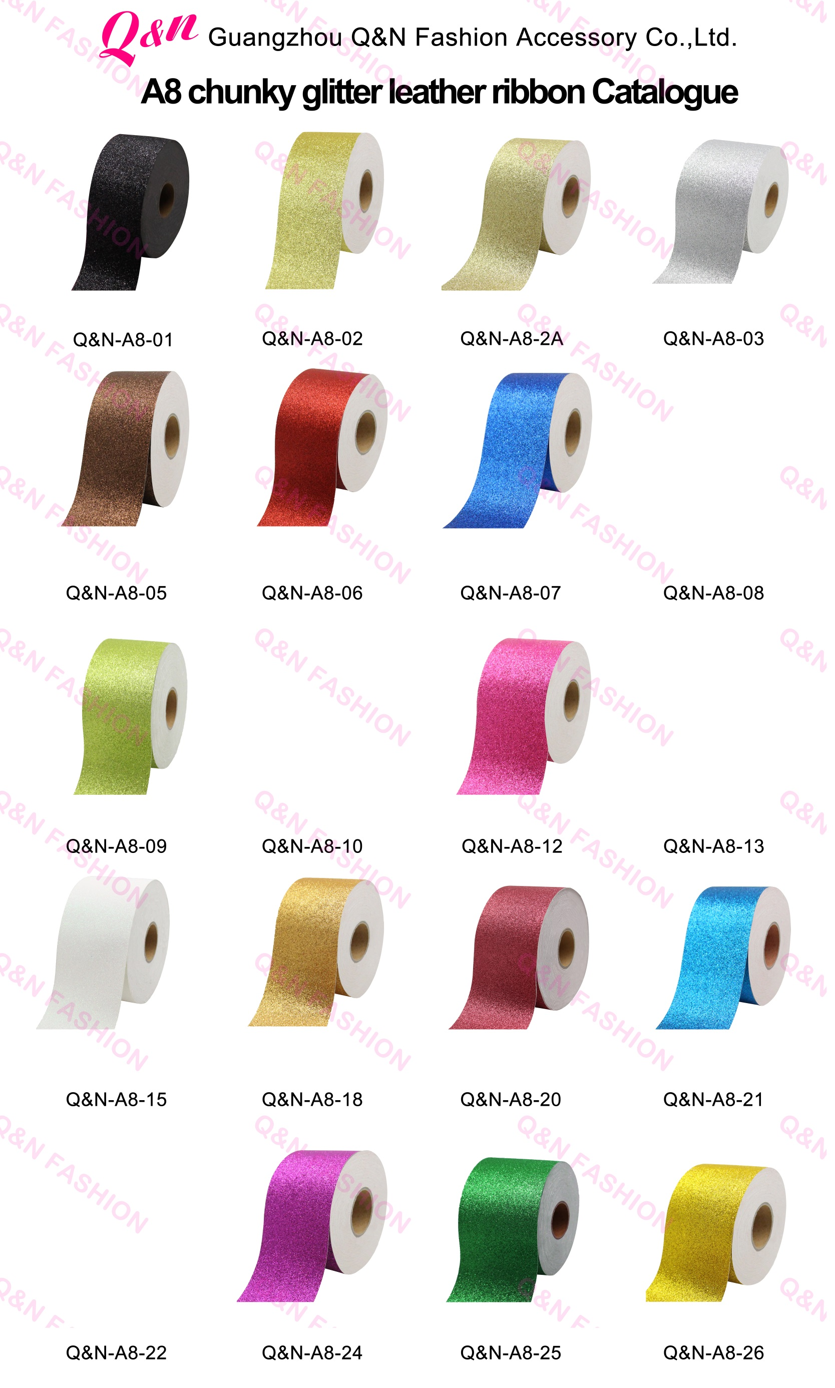 Wholesale Custom Good Quality Chunky Sparkle Glitter Ribbon For Decoration