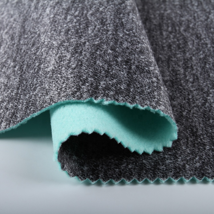 Colourful high quality polyester 345gsm printed interlock bonded microfiber fleece fabric with TPU