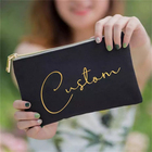 Clutch Bag Bag Canvas Custom LOGO Cosmetic Pouch Ziplock Clutch Zipper Pouch Canvas Makeup Bag