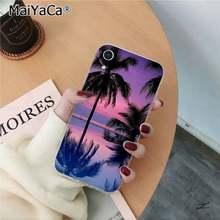 MaiYaCa Летний Пляжный сцена на закате на морской Пальме Мягкий ТПУ чехол для телефона для iPhone 11 pro XS MAX 8 7 6 6S Plus X 5 5S SE XR(Китай)