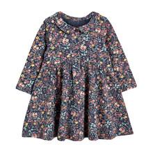 Little maven/платье с цветочным принтом для девочек; Стильная одежда с воланами; Осенняя детская одежда; Рождественское праздничное платье для де...(Китай)