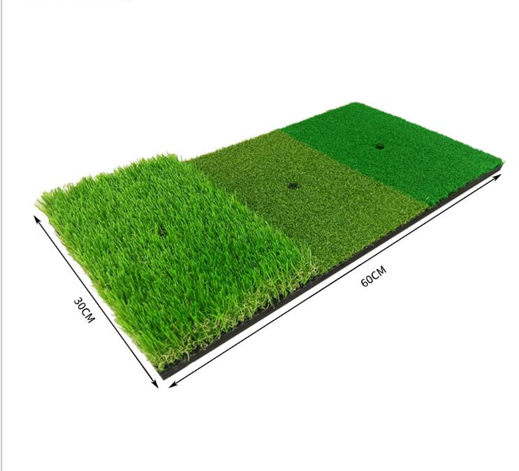 30x60cm 3 in 1 golf turf Golf practice mat for putting chipping and swing