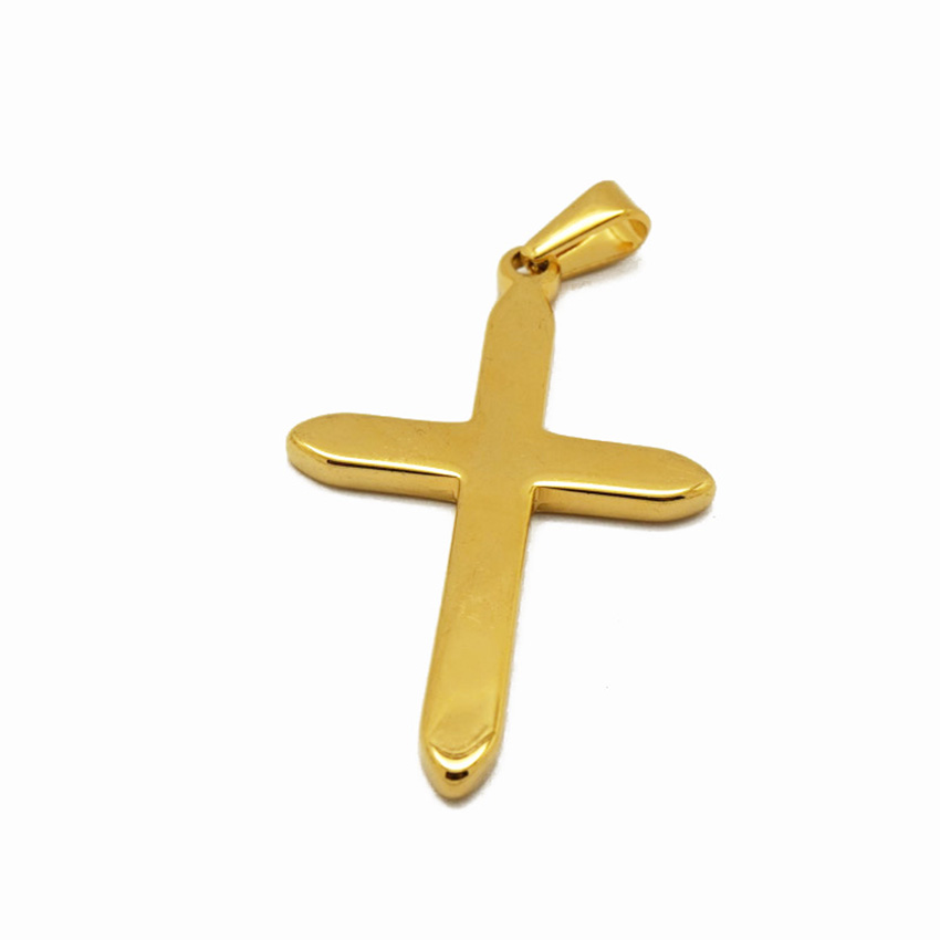 Jesus accessories metal jewelry cross pendant chain gold plated christian cross pendant for men