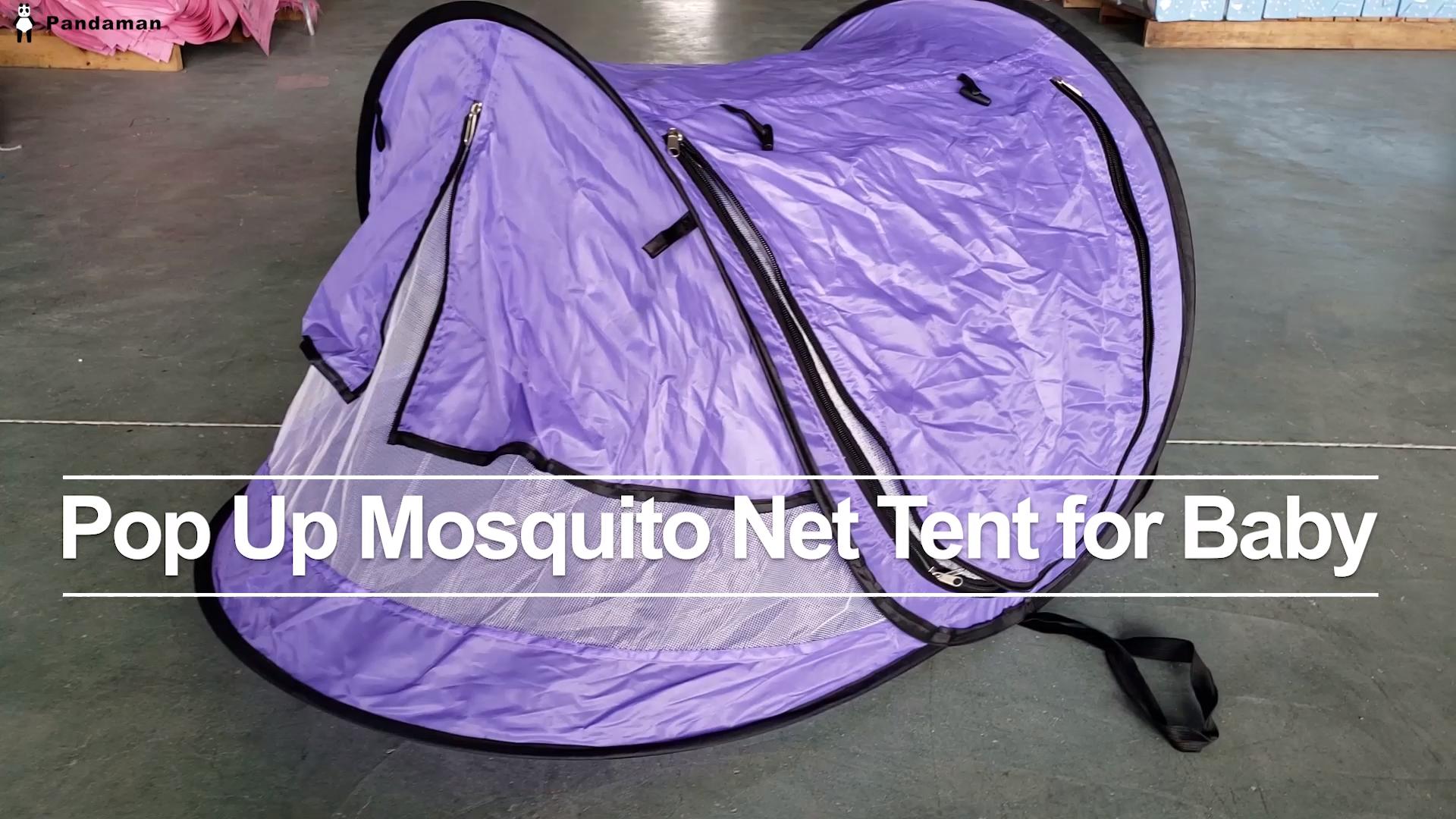 경량 팝업 모기장 텐트 큰 공간 아기 휴대용 비치 텐트 제공 UPF 50 + 태양 보호소