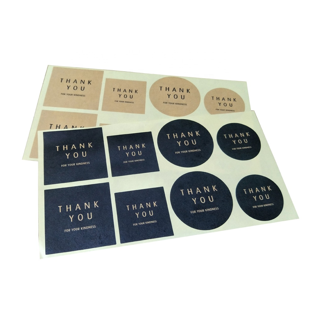 Custom Cheap Kraft Paper Self Adhesive Sticker Label