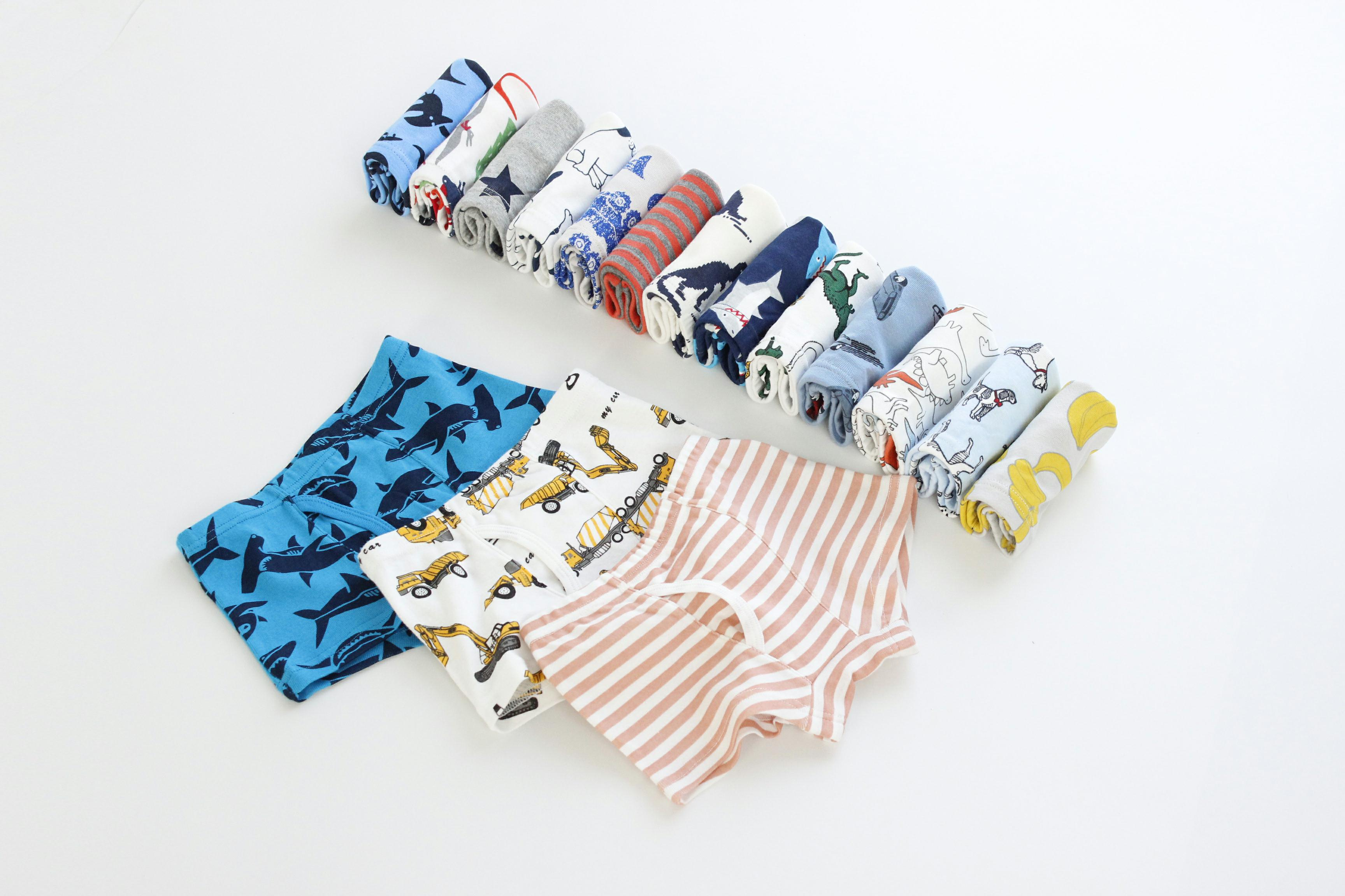 underwear for teenage boys wearing panties boys underwear wholesale dropship 3pcs/bag short pants underwear kids