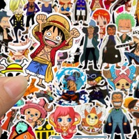 50pcs/bag Japanese Anime One Piece Luffy Stickers Computer Bike Luggage Phone car decal Stickers