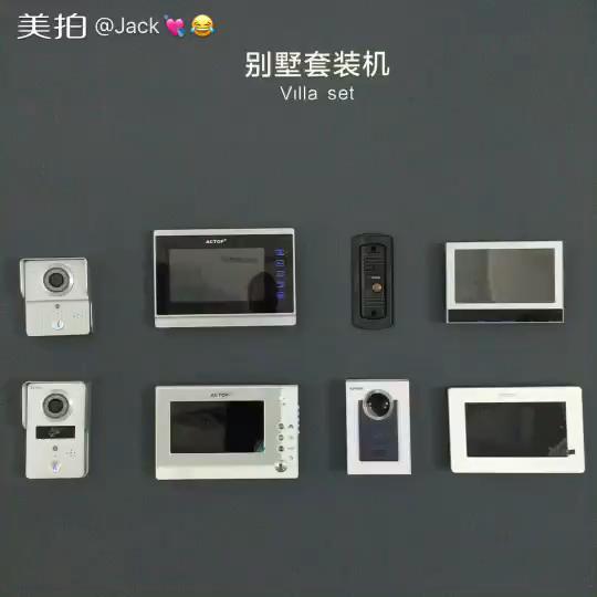 זול Wired וידאו דלת טלפון מקורה צג עם מצלמה עבור וילה