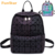 Geometric Luminous Travel Shoulder Bag Casual Holographic Reflective Teenager Traveling Backpack for Women & Men