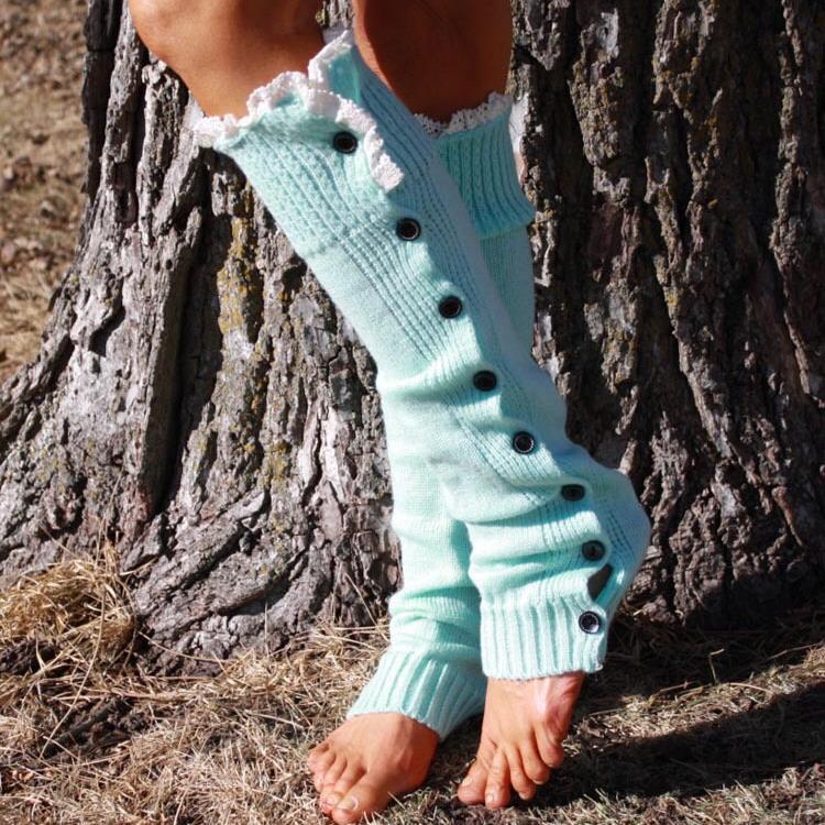 Best quality button luxury design elegant leg warmer