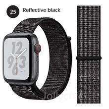 Ремешок для Apple Watch band 5 4 3/1 38 мм 42 мм нейлоновый мягкий дышащий сменный спортивный ремешок для iwatch 5 4 3 2 40 мм 44 мм браслет(Китай)