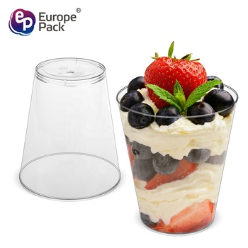 Airline supplies high quality disposable 9oz clear plastic cup