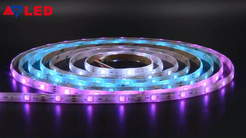 Remote Control Wifi Digital Pixel band Fita ruban Striscia Stripe Tape LED Strip Lights Kit 5M 5050 LED Strip Set