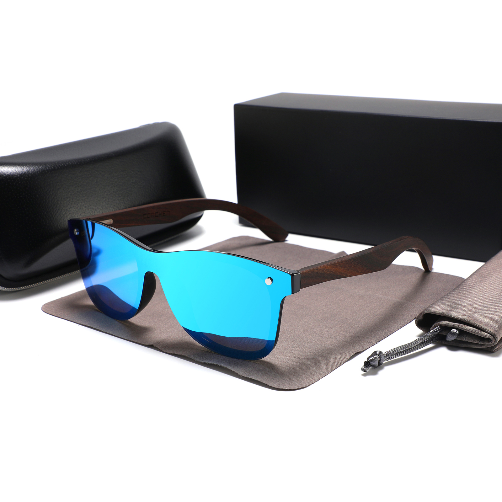 Fashion custom logo bambu temple sun glasses wooden polarized 2021 bamboo sunglasses 2020, Custom colors