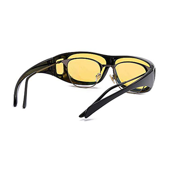 Fashion High Definition Visor Wrap-around Fit Over Sunglasses Night Vision Glasses