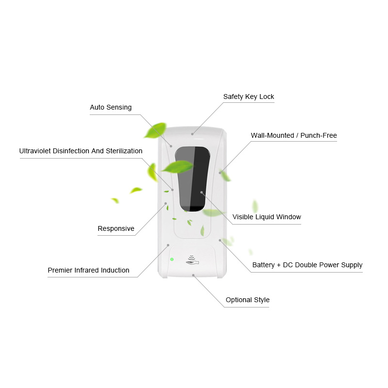 electric automatic induction hand sanitizer dispenser spray foam gel sensor soap dispenser touchless