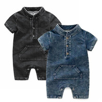 Baby Romper Denim Infant Clothes Newborn Jumpsuit Baby Boy Girls Costume Cowboy Fashion Jeans Children