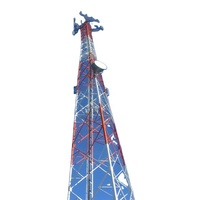 20m 3 Leg Lattice Self Supporting Triangular Steel Wireless Telecommunication Gsm 5g Radio Wifi Cell Cellular Antenna Bts Tower