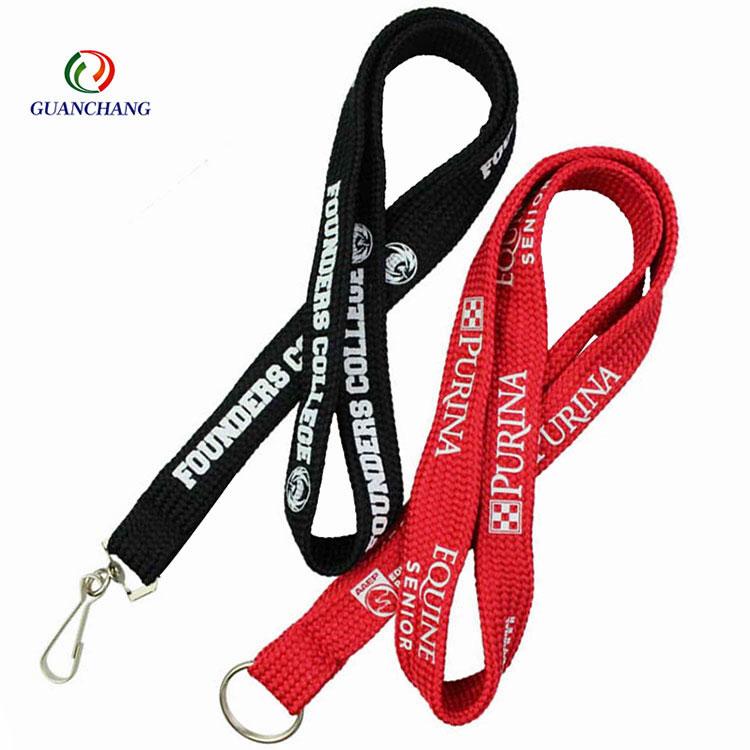 Nouveauté haute qualité mode polyester tubulaire lanière avec logo personnalisé