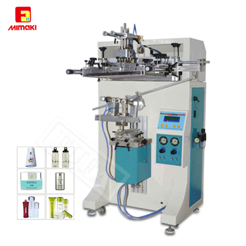 F-C30R Silk Screen Printing For Cosmetic Jars/ Bottles Curved Semi Automatic Screen Printing Machine