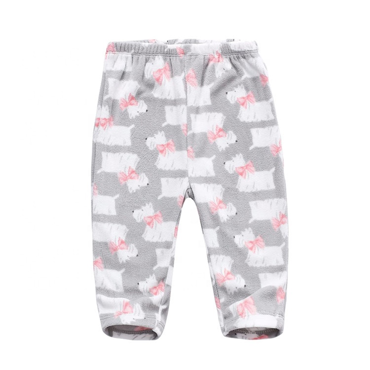High quality Baby PP long pants winter thick Newborn Pink wave point baby girl pants