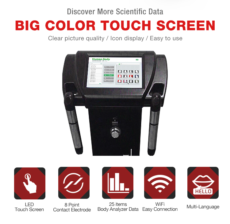 Máquina analisadora de gordura corporal humana analisadora de composição corporal profissional com impressora