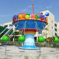 Playground equipment roundabout new flying chair crazy amusement park rider electric kiddie rides swing chair