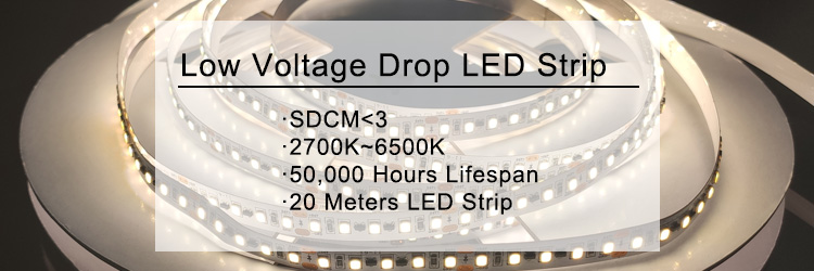 DC24V 60 LED/m 2835 8W 20m Constant Pressure No Voltage Drop IC LED Strip With Project