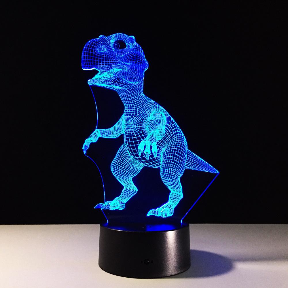Jurassic park LED Night light 3D Dinosaur Lamp Battery Power Atmosphere Light exhibition Kid Christmas Boy Gift Toy Animal
